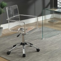 Coaster Office Chairs Acrylic Office Chair with Steel Base ...