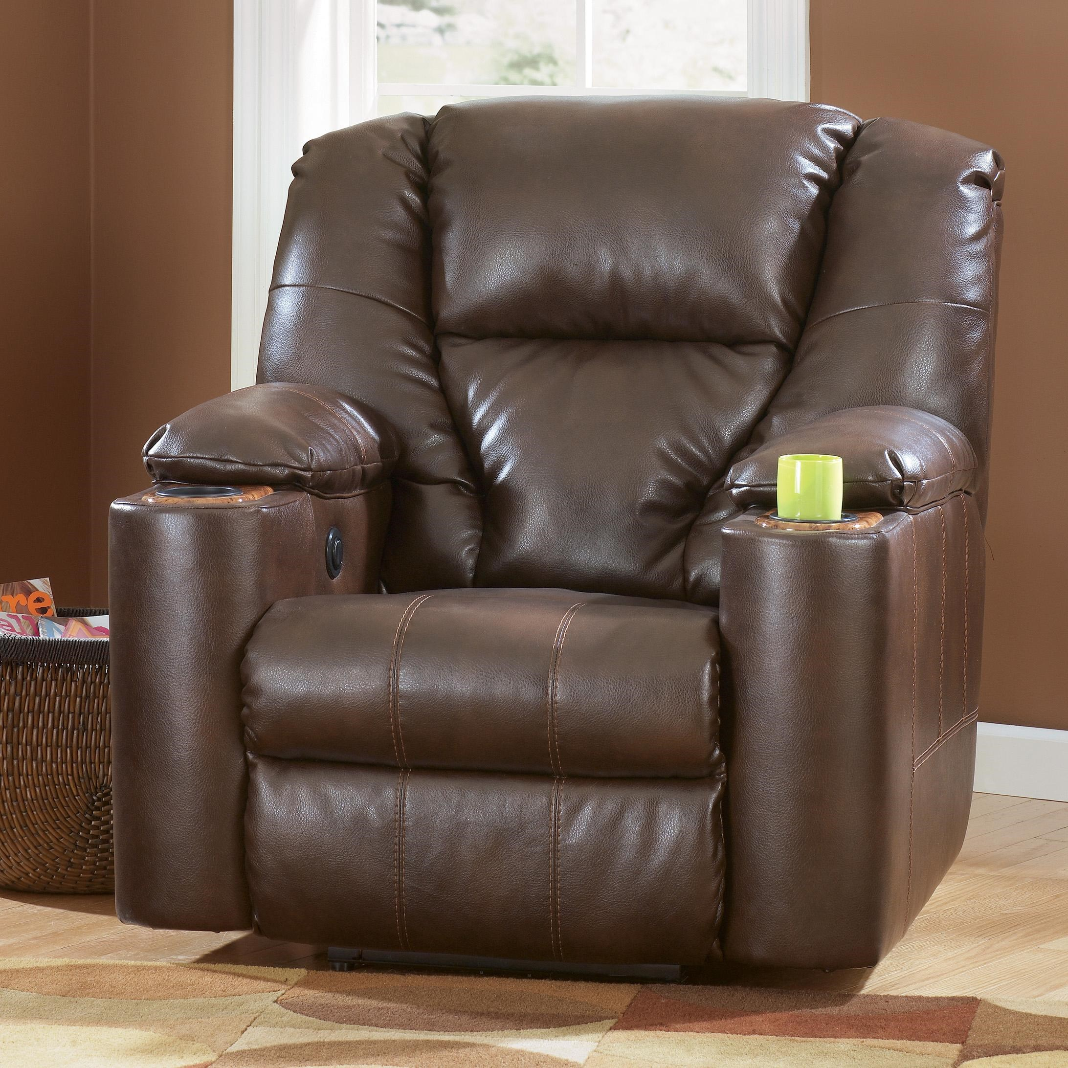 Ashley Recliner With Cup Holder