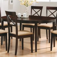 Coaster Mix & Match Oval Dining Leg Table - Coaster Fine ...