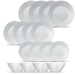 Aparelho de Jantar 16 peças Vidro Saturno Branco - Nadir Figueiredo