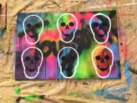 Spray paint on canvas - 9GAG