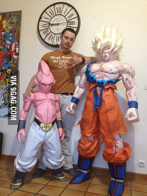 Best Car Wallpaper App Life Size Papercraft Kid Buu Goku And Quot Human Quot 9gag