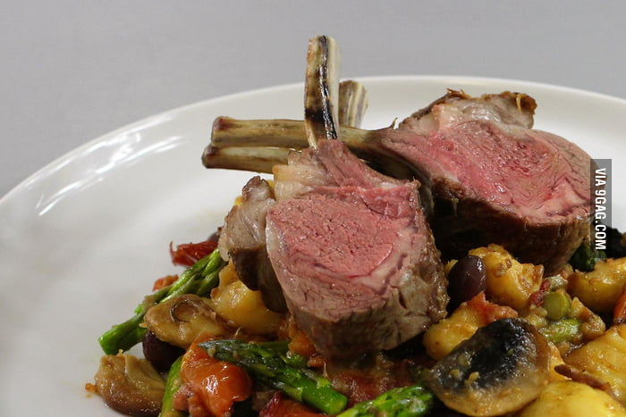 Rack Of Lamb With Oven Roasted Vegetables 9gag