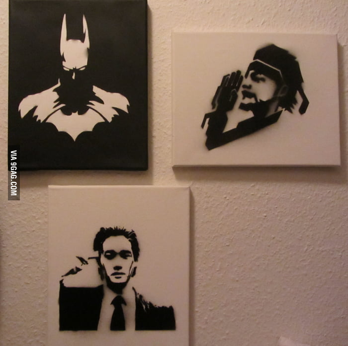 SoI love to make stencil-art - 9GAG