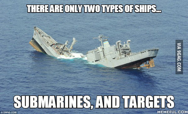 There are only two types of ships - 9GAG - types of ships