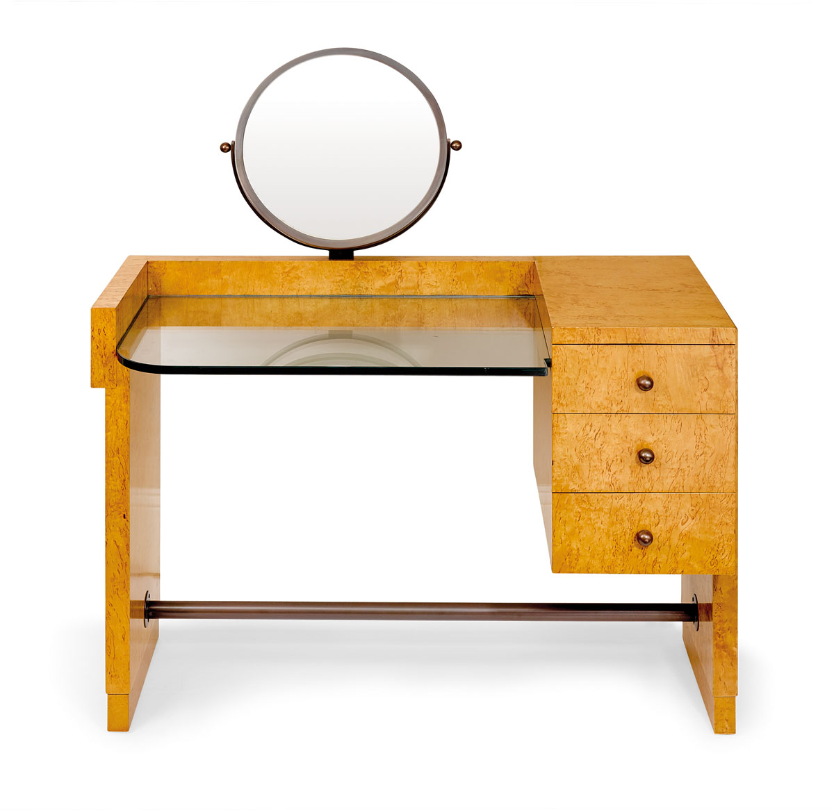 Dressing Table Australia A Fine Art Deco Figured Masur Birch And Bronze Dressing Table