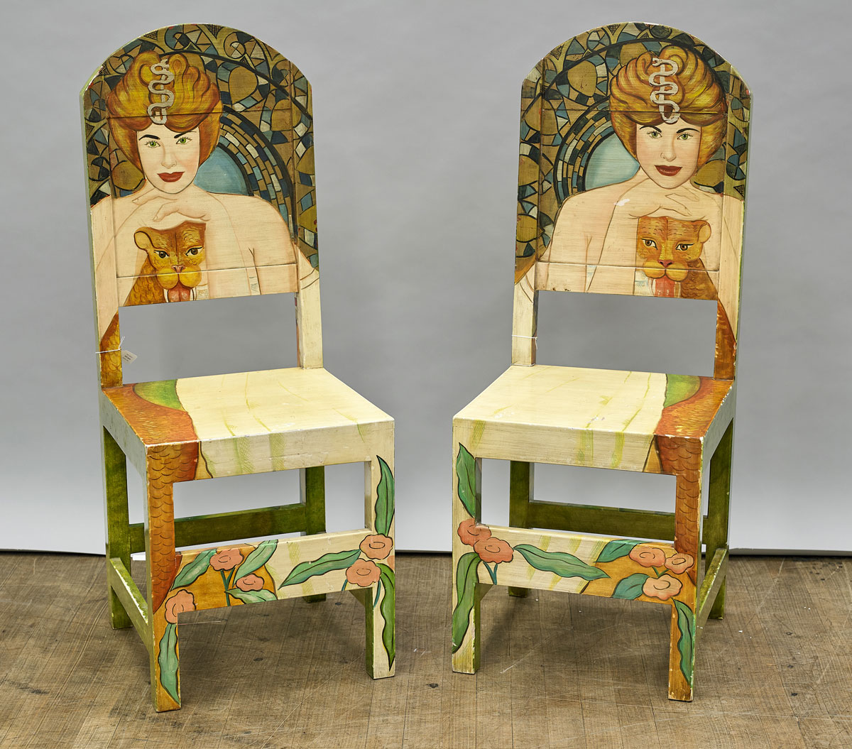 Mexican Rocking Chair Pair Mexican Painted Wood Chairs