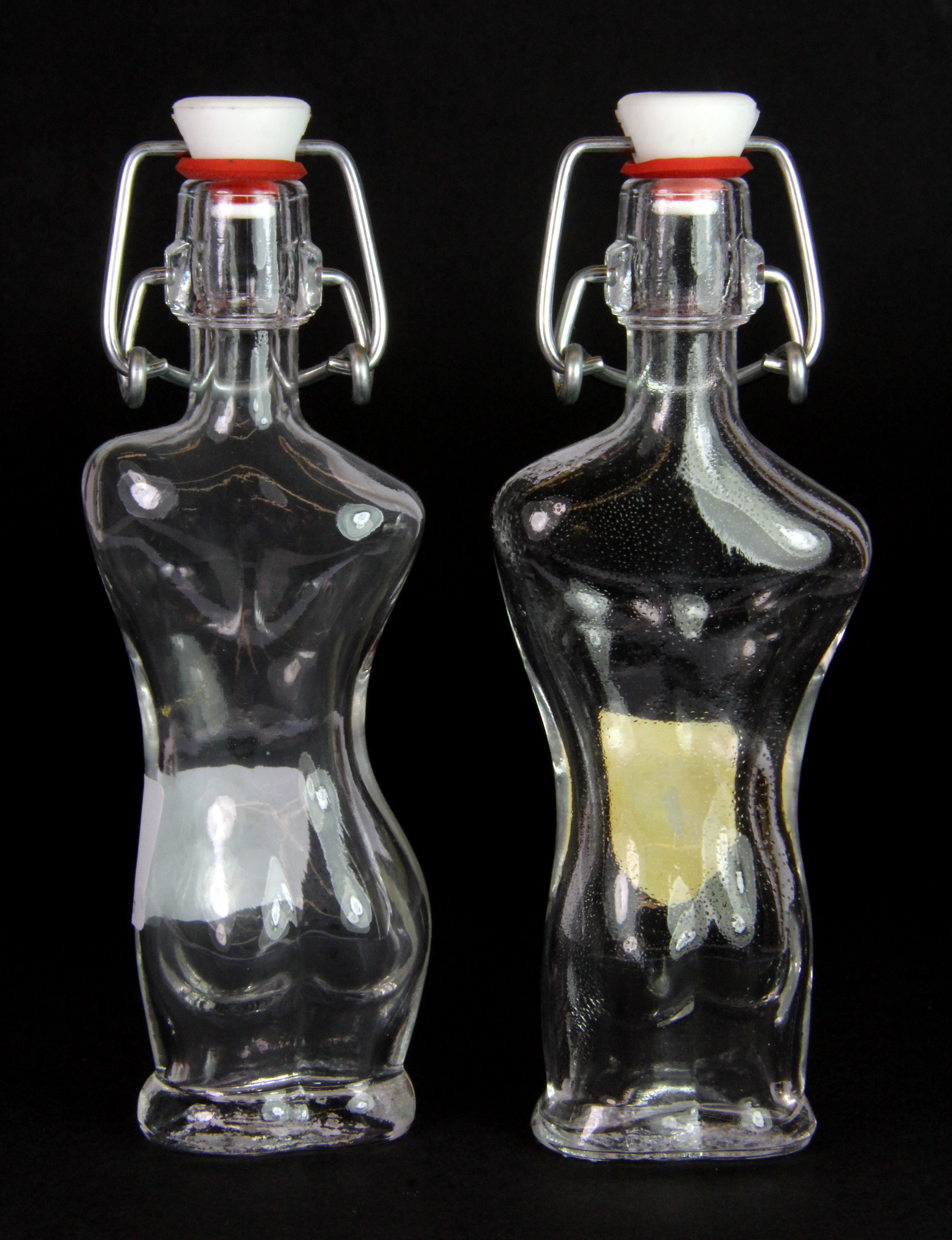 Interesting Bottles A Pair Of Interesting Vintage Marc De Savoie Bottles H 15cm