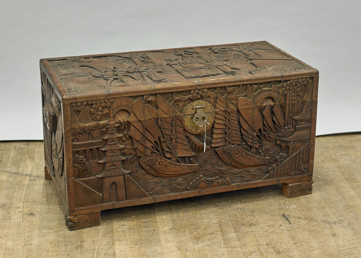 Wood Blanket Box Chinese Carved Wood Blanket Chest