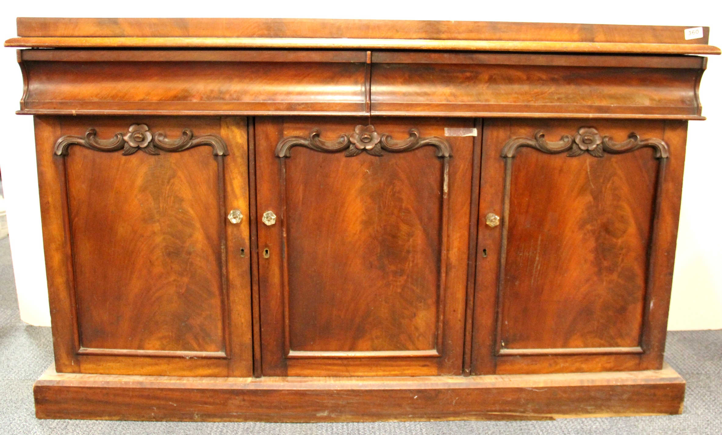 A Victorian Sideboard With Two Drawers And Three Doors W 150cm H 9 Lofty Marketplace