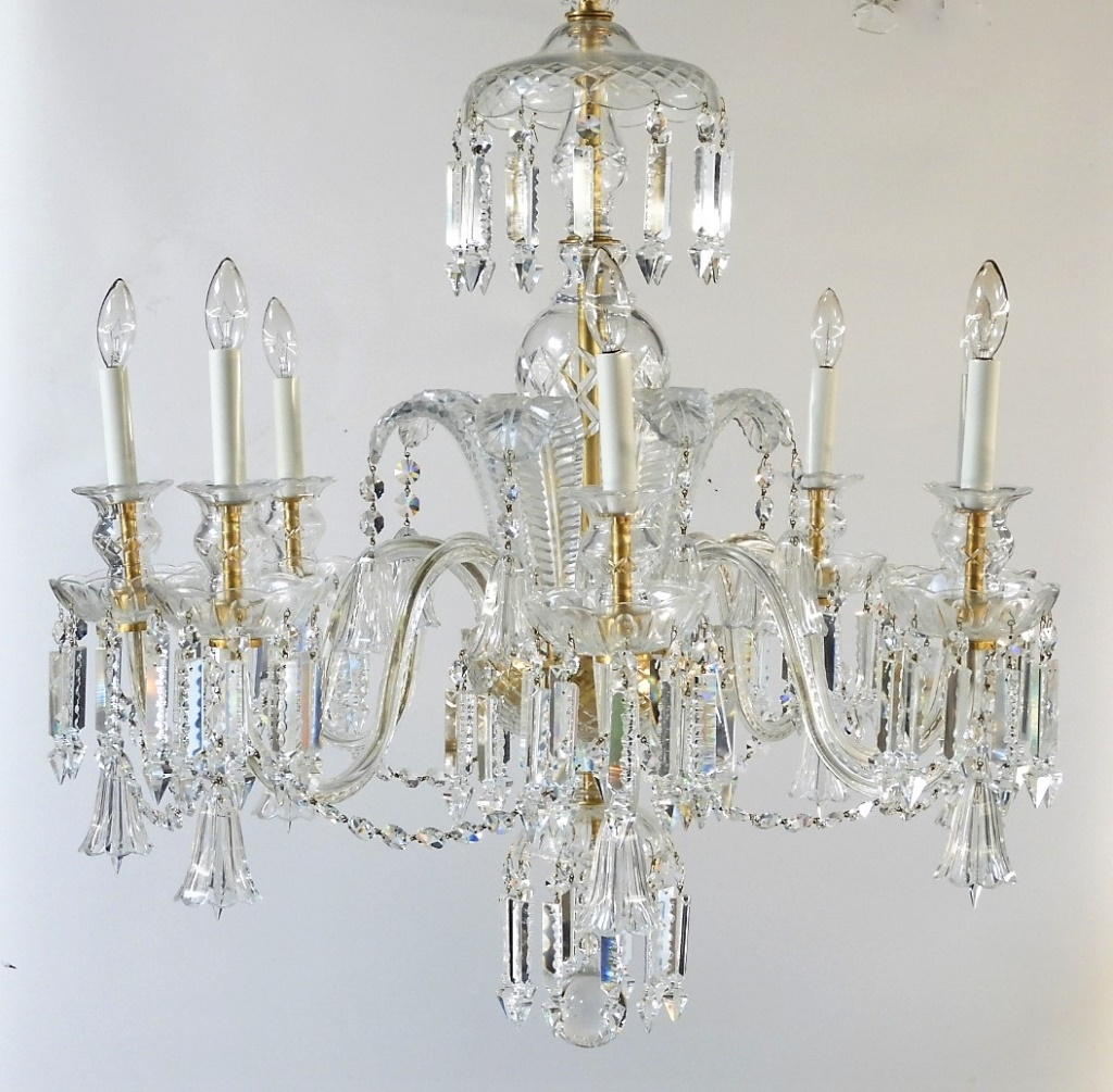 Fine Waterford Or Baccarat Cut Crystal Chandelier Bruneau And Co