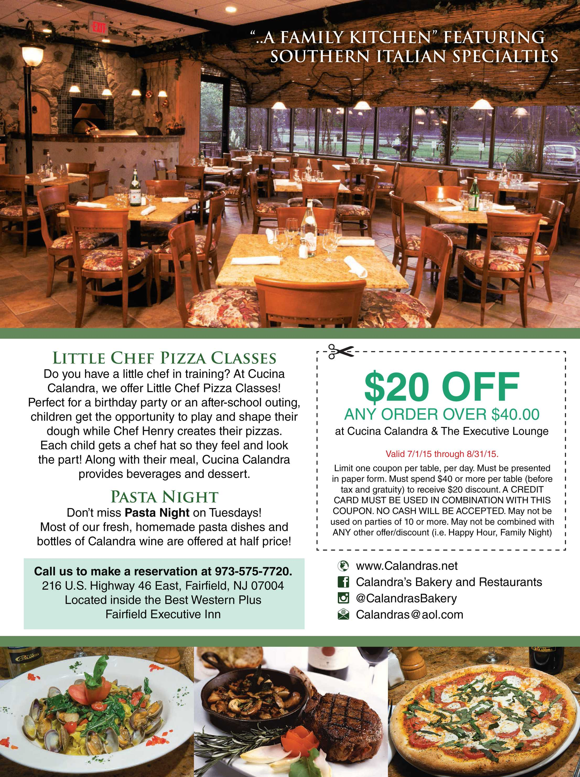 Cucina Calandra Restaurant Nj Monthly July 2015 Page 15