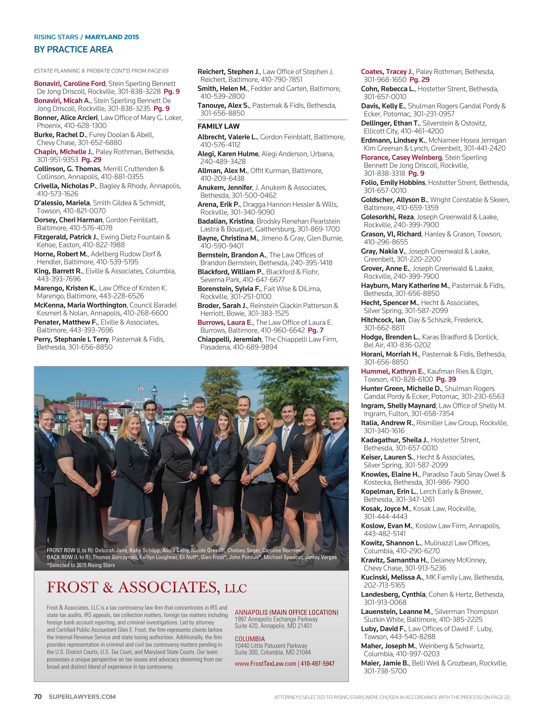 Hecht Garten Super Lawyers Maryland 2015 Page 70