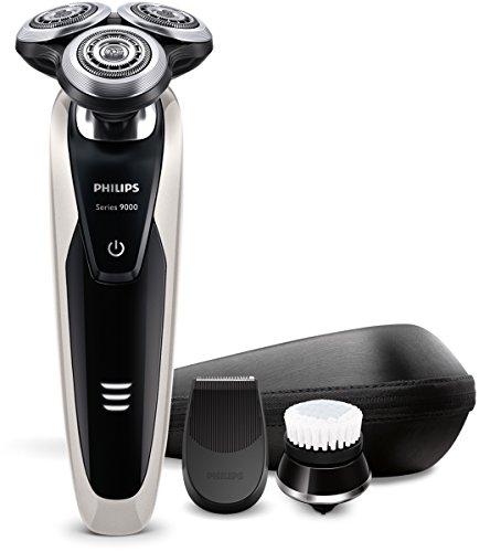 Philips SHAVER Series 9000 S9090/43 Rotación Recortadora Negro, Metálico - Afeitadora (Rotación, Negro, Metálico, Batería, Ión de litio, Ergonómico)