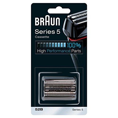 Braun 52B - Recambio para afeitadora eléctrica, compatible con afeitadoras Series 5, color negro