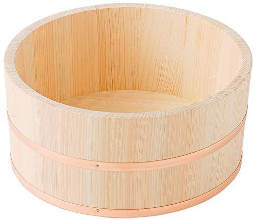 洗面器 桧 湯桶 国産 ひのき 小 銅 箍 φ21×11cm