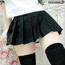 超ミニ無地プリーツスカート単品 色:無地黒 サイズ:BIG