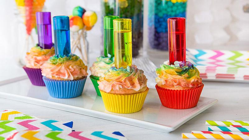 Rainbow Shot Cupcakes Recipe - Tablespoon