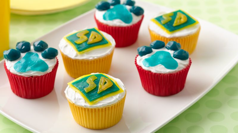Scooby-Doo Paw Print Cupcakes Recipe - BettyCrocker