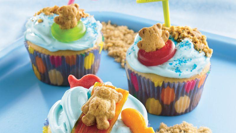 Teddy At The Beach Cupcakes Recipe Bettycrockercom