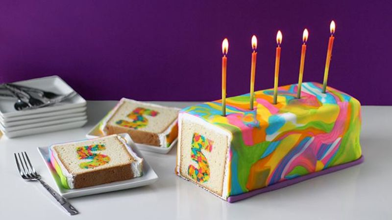 Rainbow Tie Dye Surprise Cake Recipe Tablespooncom