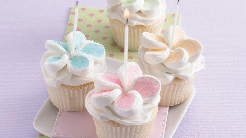Happy Birthday Marshmallow Cupcakes Recipe - BettyCrocker