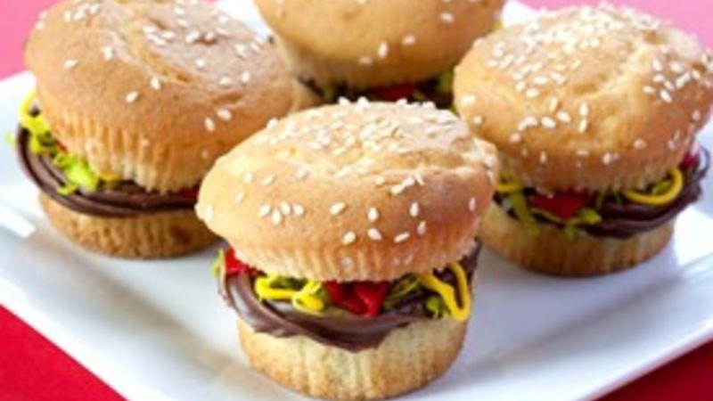 Juicy Lucy Burger Cupcakes Recipe - Tablespoon - easy bake sale goodies