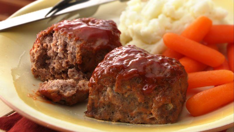 30-Minute Mini Meatloaves Recipe - BettyCrocker