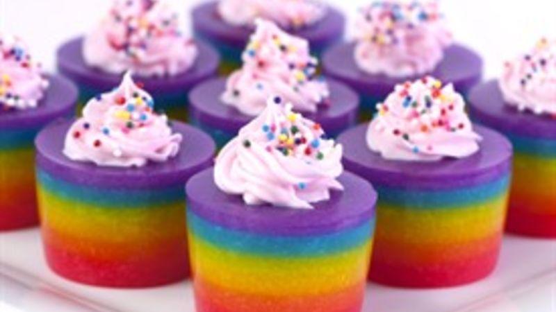 Double Rainbow Cake Jello Shot Recipe - Tablespoon