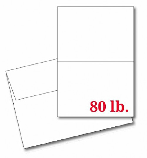 A2 - Heavyweight Blank White Greeting Card Sets with Envelopes Size