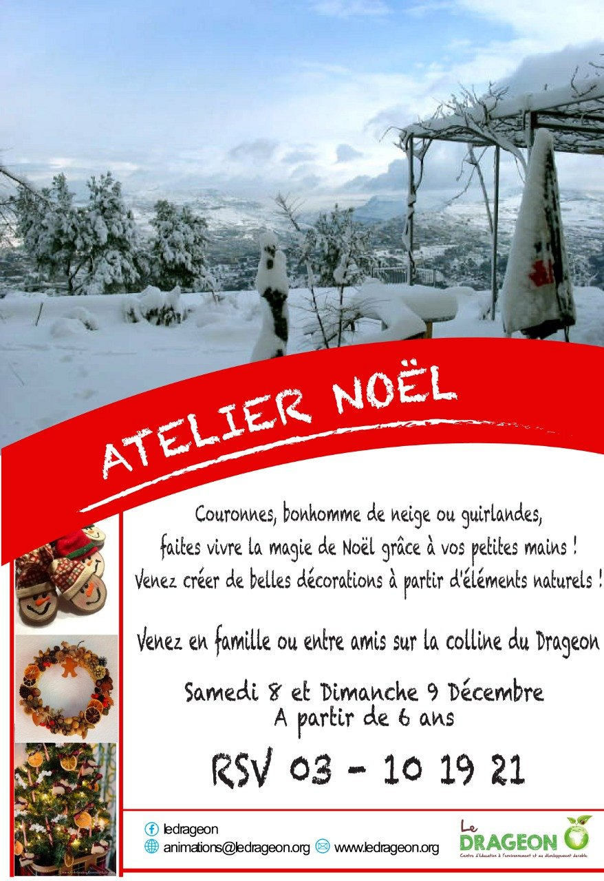 Atelier Decoration De Noel Atelier Décoration De Noël Lebtivity