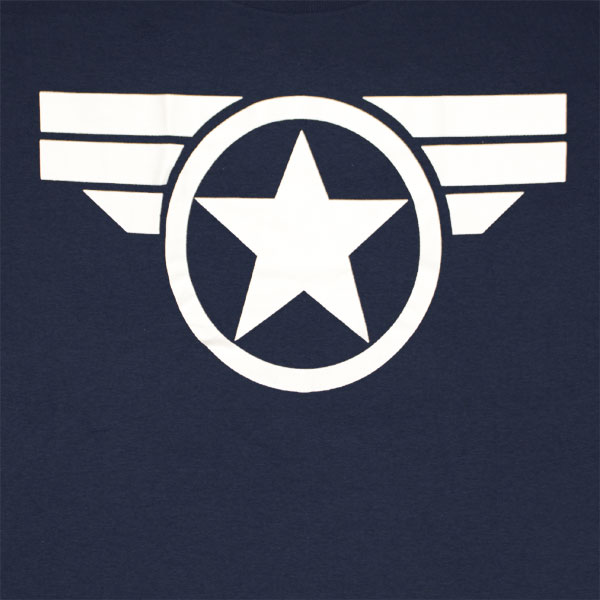 Godfather Hd Wallpaper Captain America Good Ol Steve Logo Navy Blue Graphic Tee