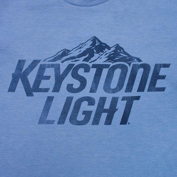 Keystone Light Basic Logo T Shirt WearYourBeer - basic blue background