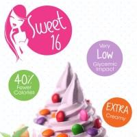 Create a beautiful Sweet 16 frozen yogurt poster   Poster ...