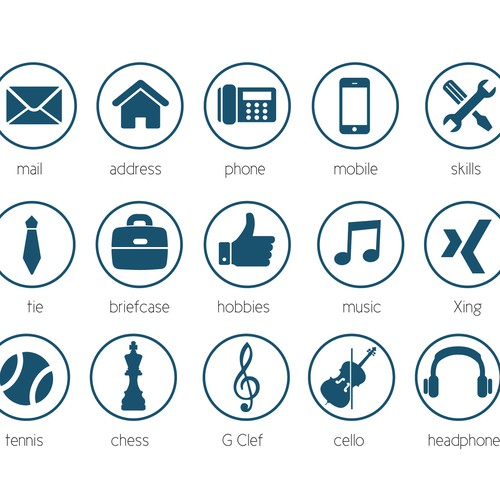 icone design cv