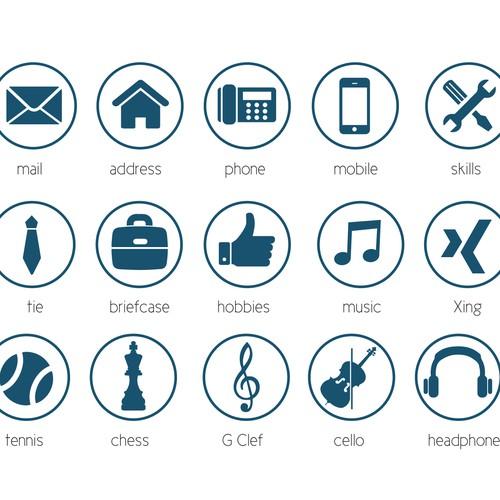 icone cv pour langue