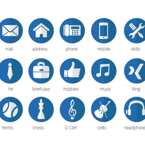 icone pour cv langue