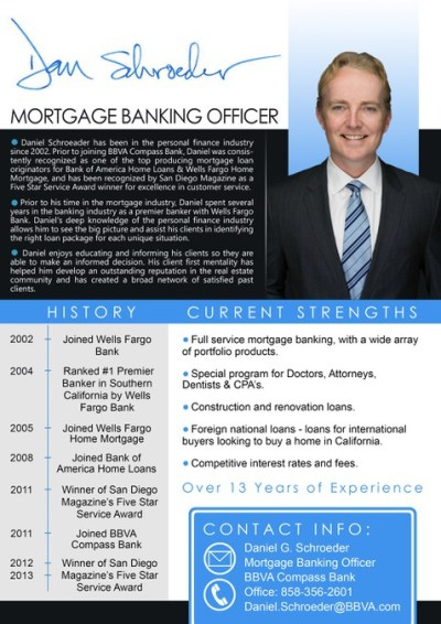 Top Loan officer needs an improved bio to attract new clients | Postcard, flyer or print contest