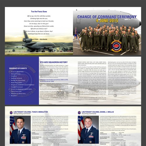 air force retirement ceremony program templates