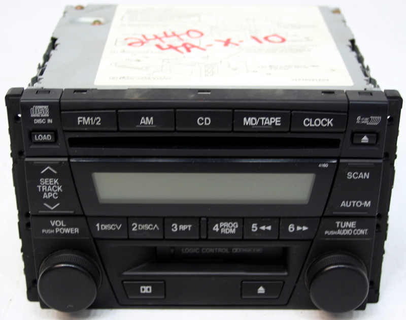 2000-2003 Mazda MPV Factory Stereo 6 Disc Changer Cassette CD Player