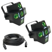 American DJ (2) Fun Factor LED DMX Lighting Fixture ...