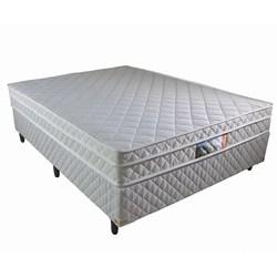Cama Box Queen + Colchão Molas Ensacadas e Pillow Revolution 158x198x58cm Branco- Rifletti