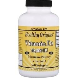 Vitamina D D-3 10000ui 360 SGels Importado Healthy Origins