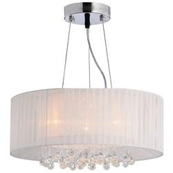 Pendente Toronto Circular Branco 50x34cm E-27 4 Lamp. Max. 60w