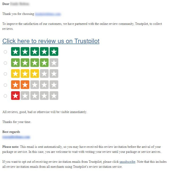 Create and customize your review invitation email \u2013 Trustpilot