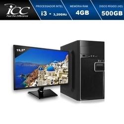 Computador Desktop ICC IV2341SM19 Intel Core I3 3.20 ghz 4gb HD 500GB HDMI FULL HD Monitor LED 19,5