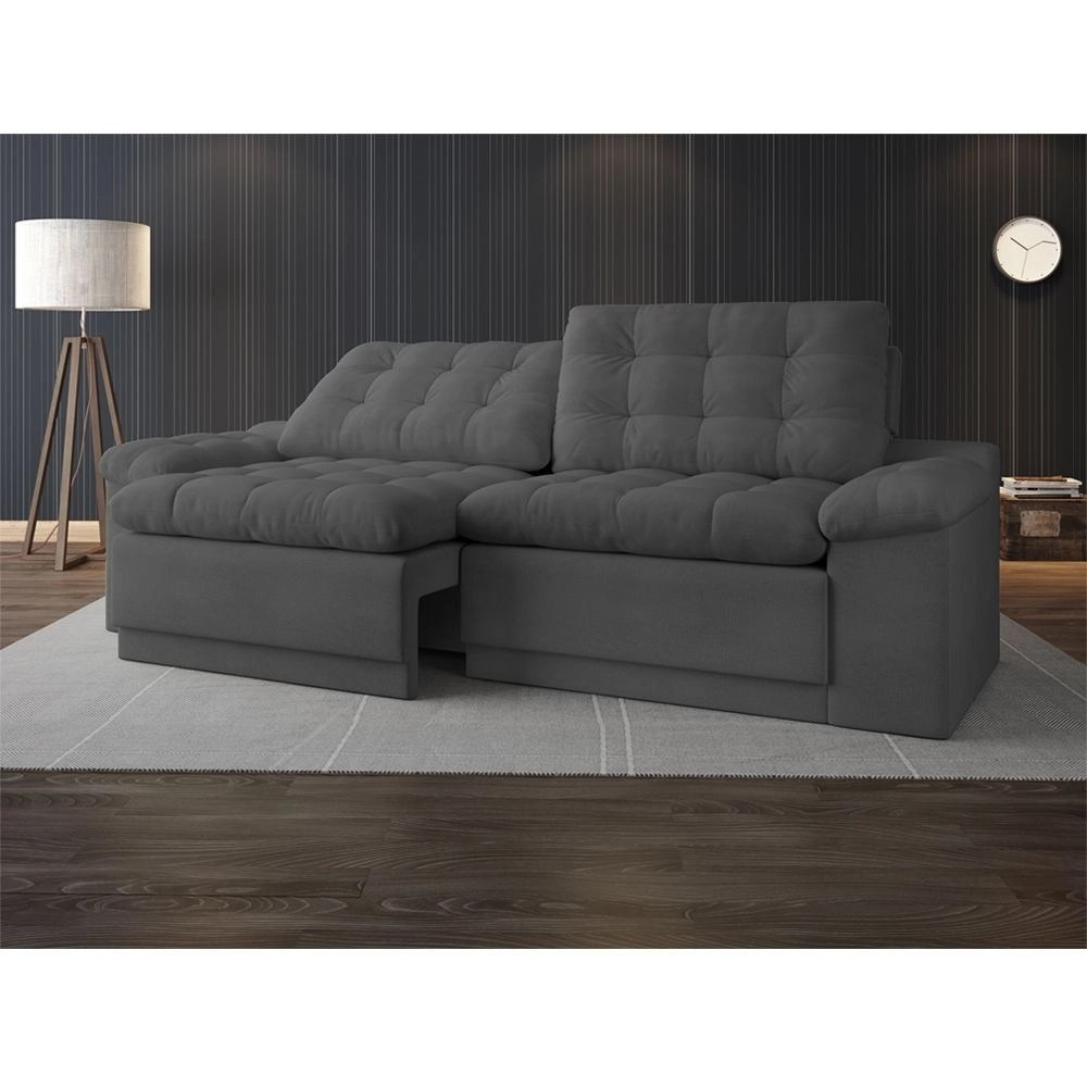Sofa Retratil E Reclinavel Submarino Sofá 4 Lugares Net Confort Assento Retrátil E Reclinável Grafite 2 20m L