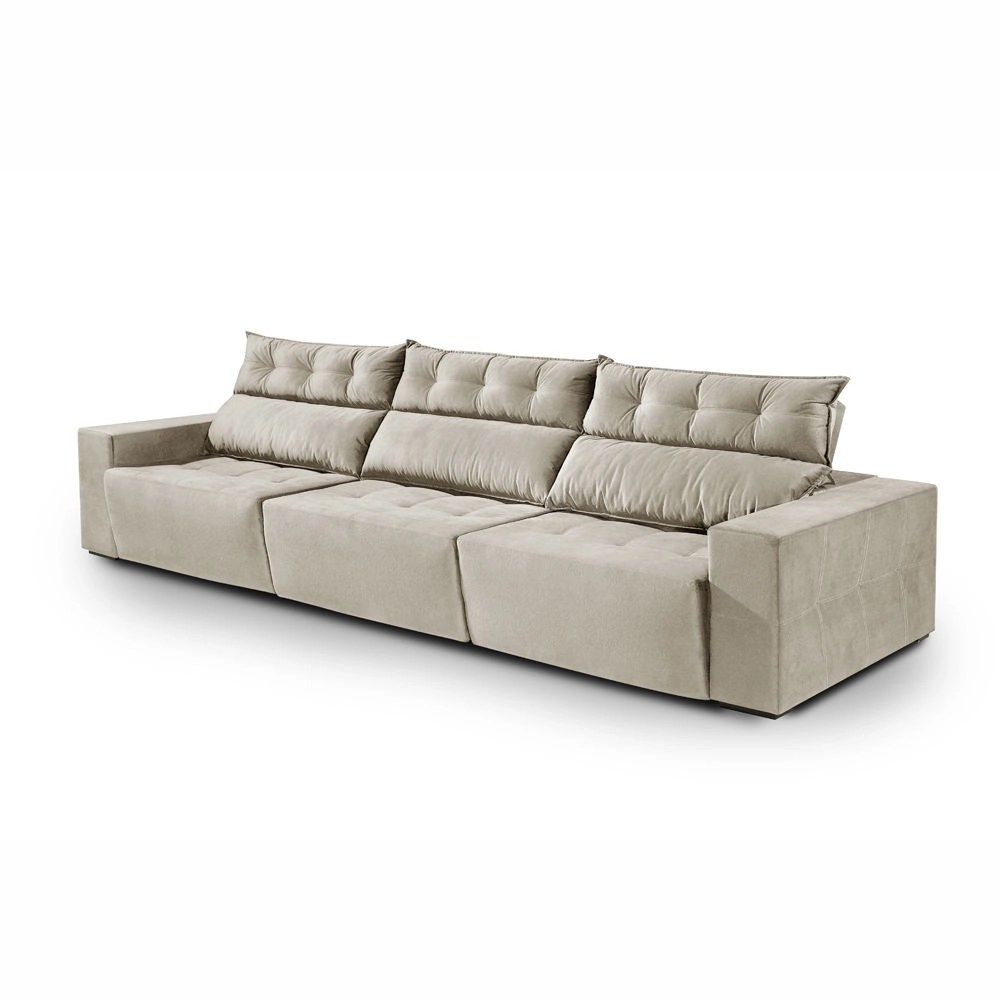 Sofa Retratil E Reclinavel Submarino Sofá Comfortmais Summer Retrátil E Reclinável 3 20 Cm Palha No