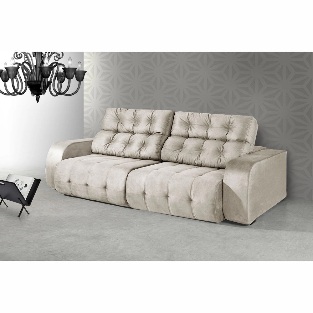 Sofa Retratil E Reclinavel Submarino Sofá Comfortmais Dover Retrátil E Reclinável 2 10 Cm Palha No