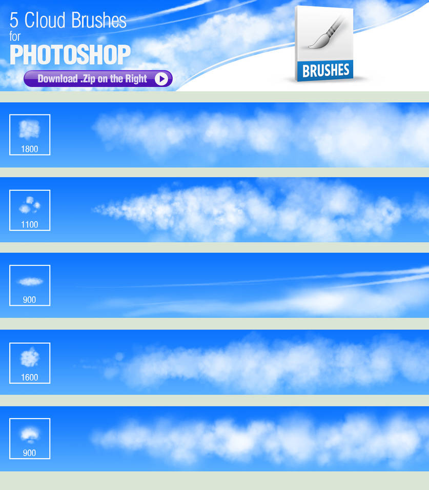 Photoshop 5 5 Photoshop Brushes For Painting Clouds By Pixelstains On Deviantart